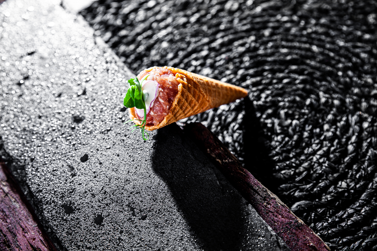 Foodfotografie Highleists Björn Leist Mett Waffel Cornetto Professionelle Fotografie Johannes Ruppel