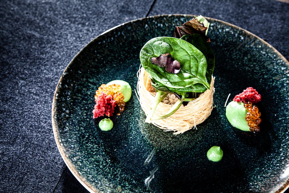 Foodfotografie Highleists Björn Leist Tartar SaxenHof Forelle Professionelle Fotografie Johannes Ruppel